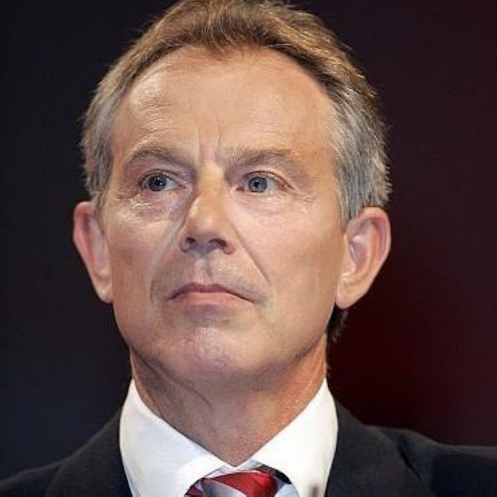 Tony Blair will announce Britain's signing of the trafficking convention
