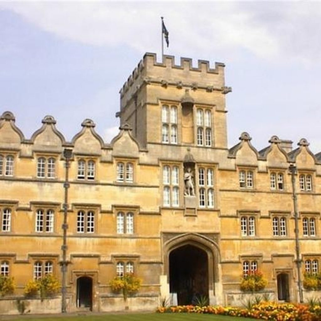 Oxford is ranked as the top university by the Times