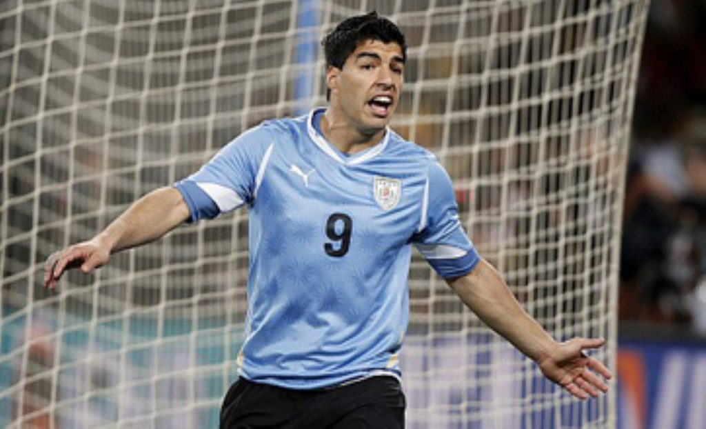Luis Suarez plays for Liverpool and Uruguay