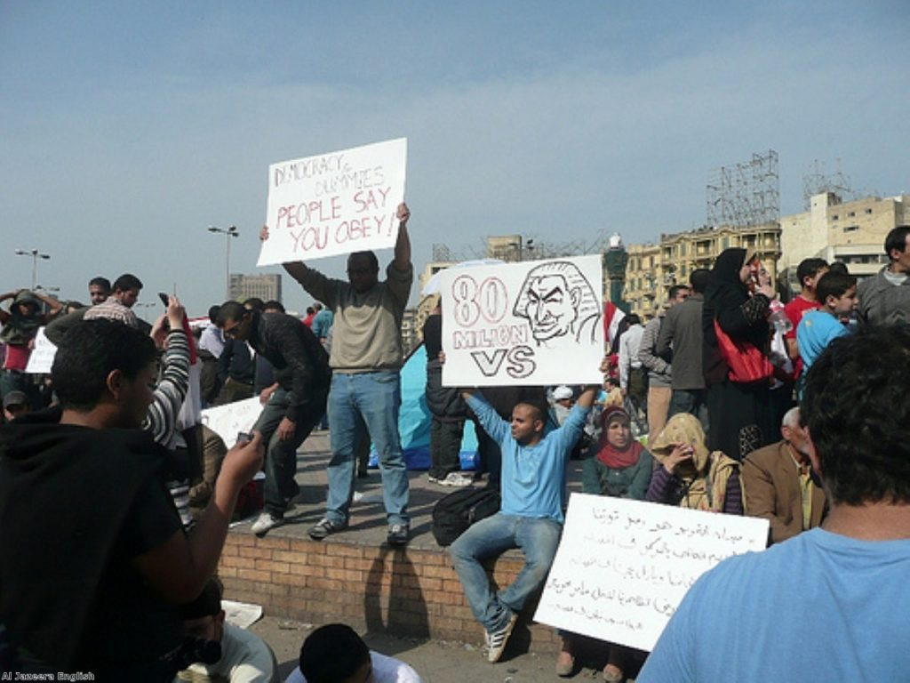There was euphoria on the streets of Cairo today as the rumours spread