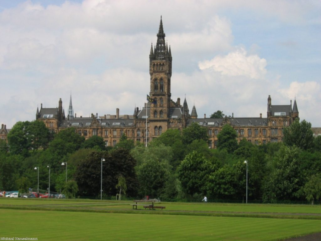 Michael Moore will deliver his speech at Glasgow University