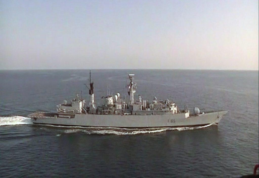 HMS Cumberland en route to Benghazi in Libya
