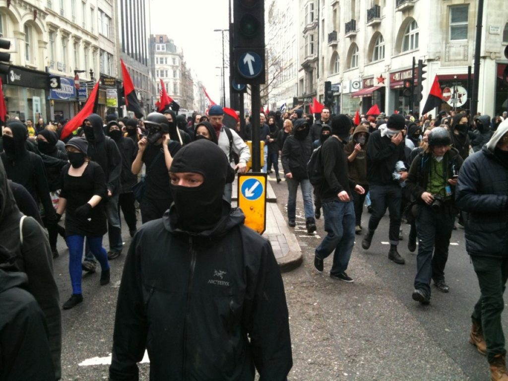 Anarchists on the streets of London