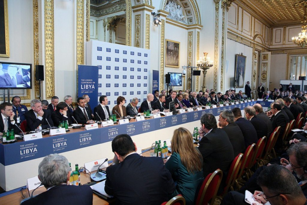 The London conference on Libya met in Lancaster House this afternoon