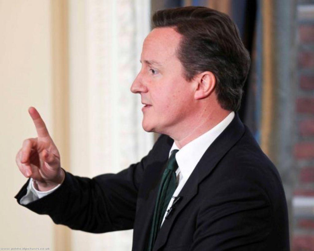 David Cameron takes questions.