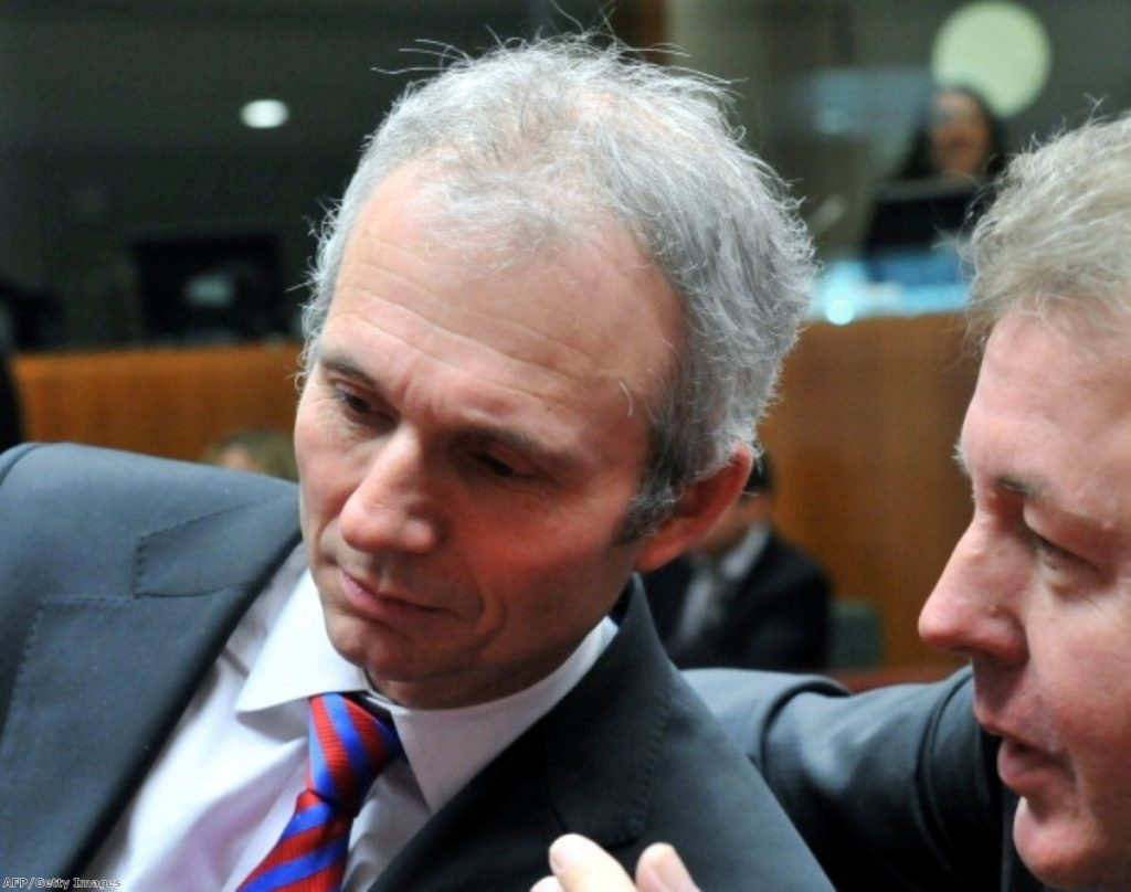 David Lidington in Europe: the minister promised to resign if he does not secure his objectives over HS2