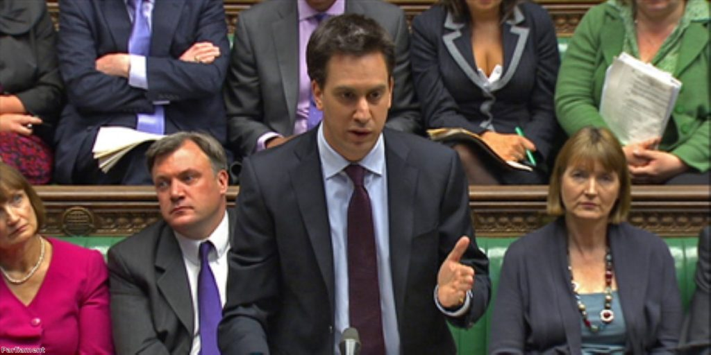 Some mistake? Labour spokespeople later denied Miliband was commenting on Labour policy at the next election.