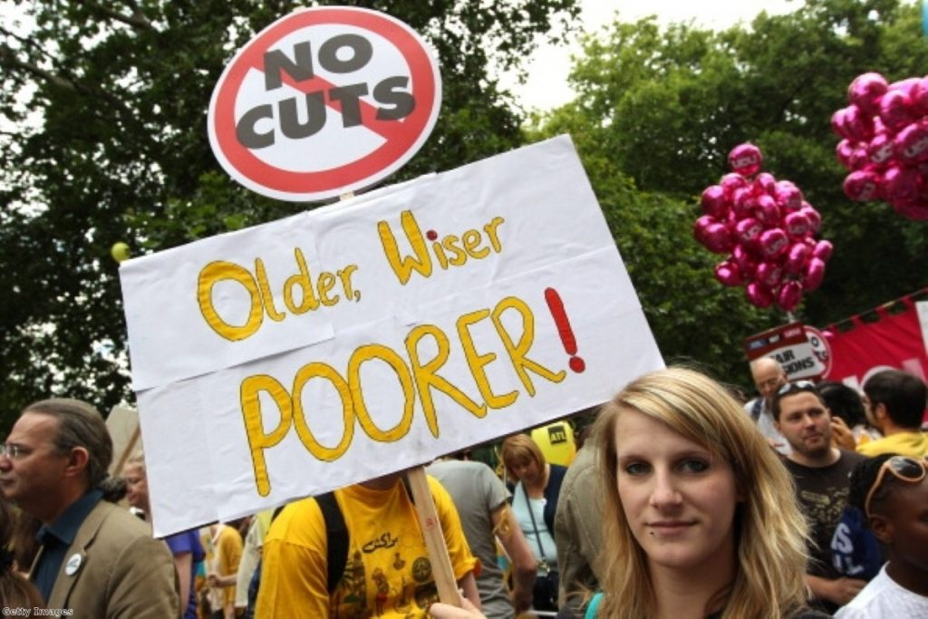 Public sector workers are striking today over their pension arrangements