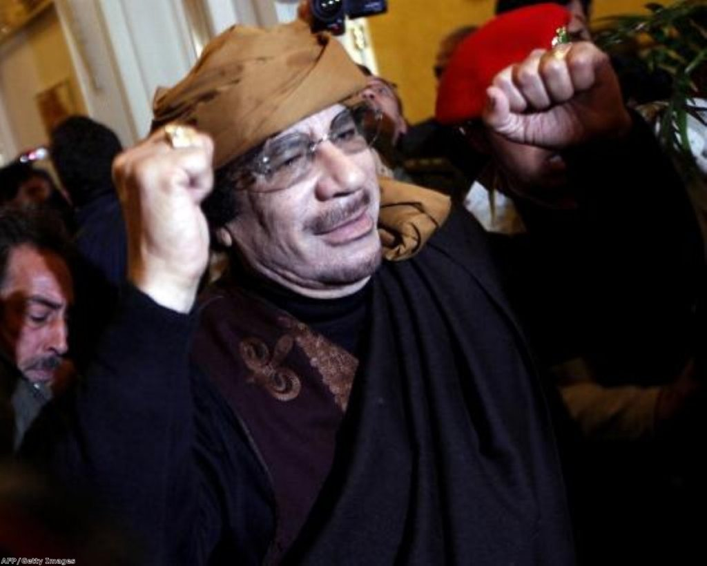 Libyan strongman Muammar Gaddafi