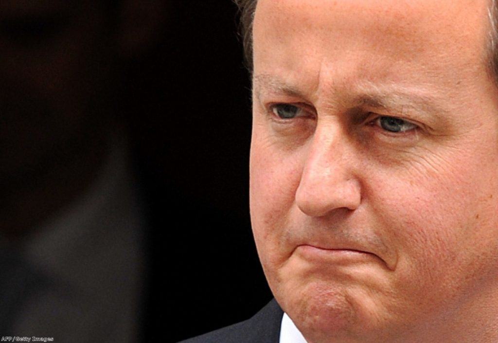 David Cameron outside Downing Street, as pressure mounts over the cash for access scandal