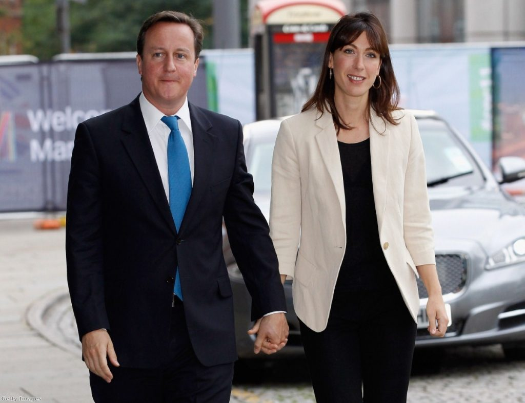 Male prime minister with his wife, Samantha