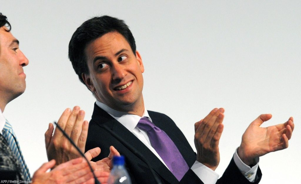 Going well? Miliband soaring in the polls.