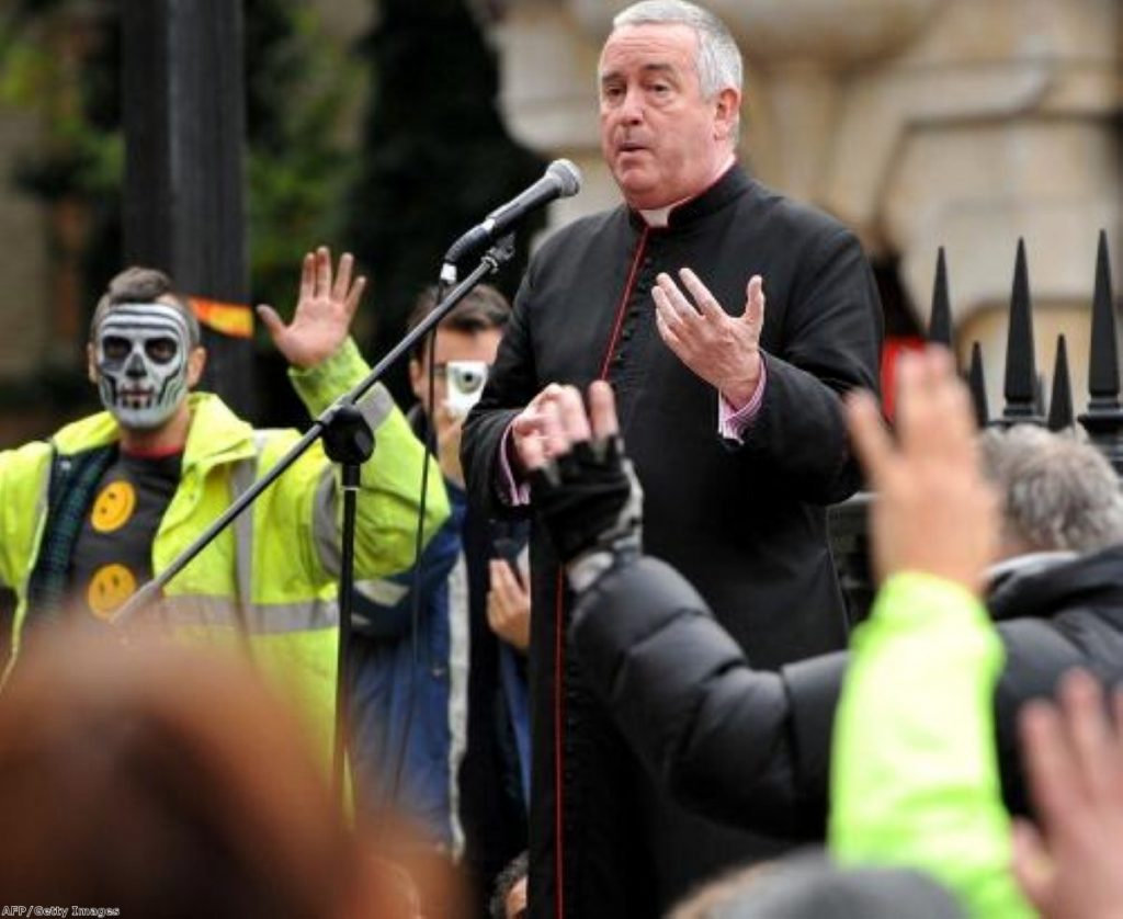 Graeme Knowles outside St Paul's yesterday