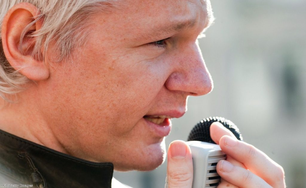 Julian Assange is expected to deliver a statement on Sunday