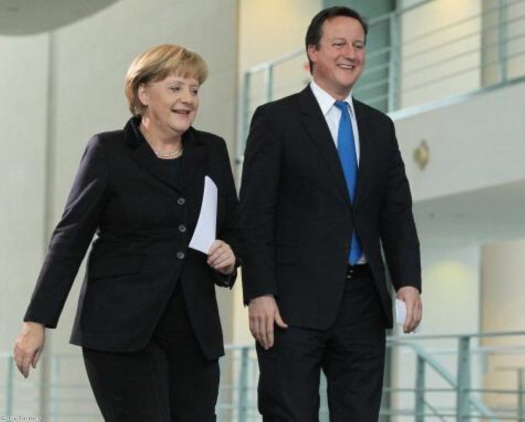 German chancellor Angela Merkel and David Cameron did get on, officials insist