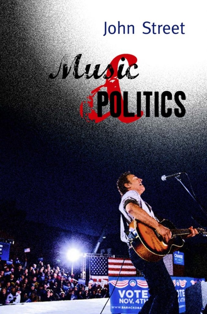 Bruce Spingsteen performs to support Barack Obama in a still taken from Street's book, Music and Politics.