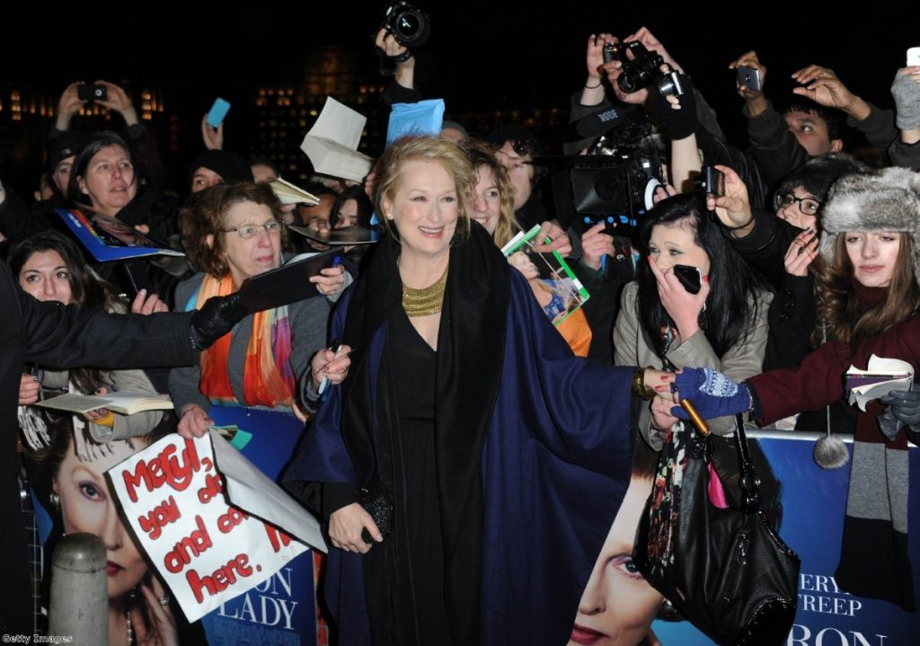 Meryl Streep attends the European premier of the film earlier this week in London.