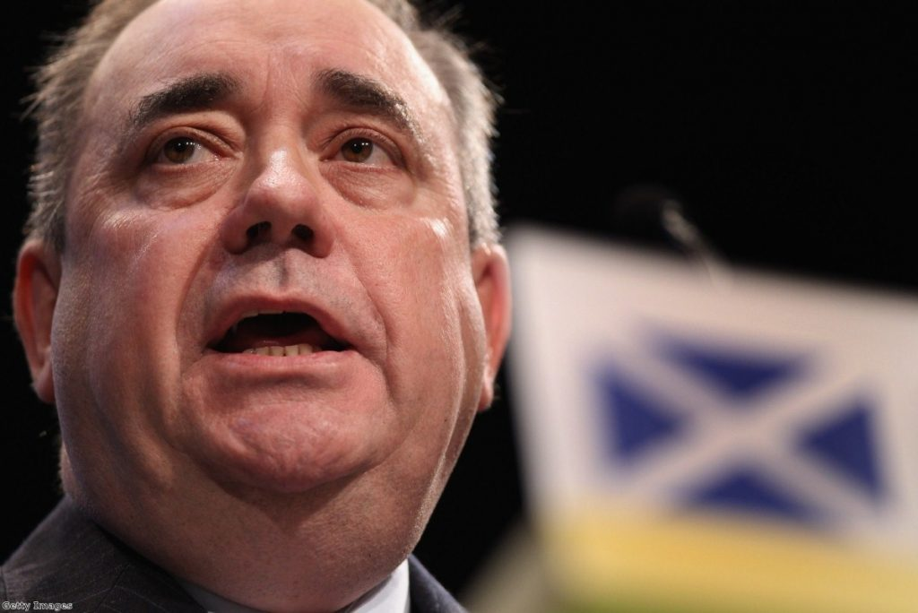 Alxe Salmond was subject to widespread attacks from across the chamber today