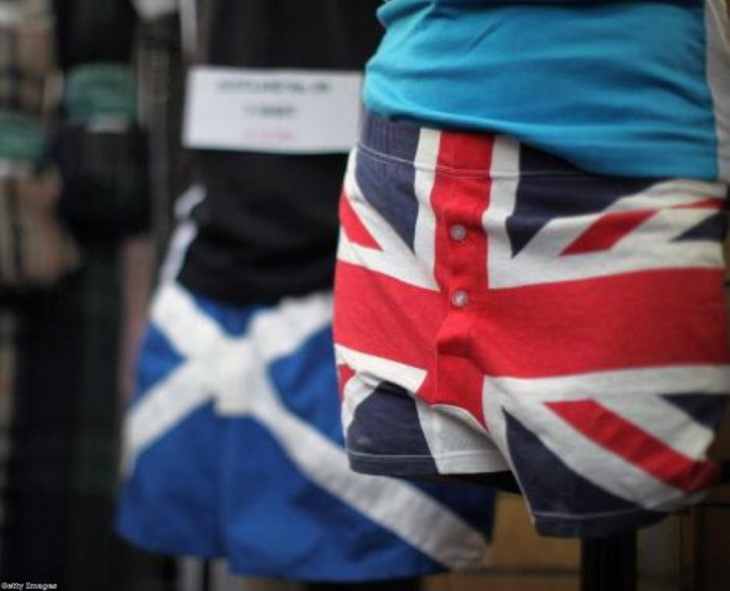 Scottish and British identities do not have to be at odds, Miliband argued