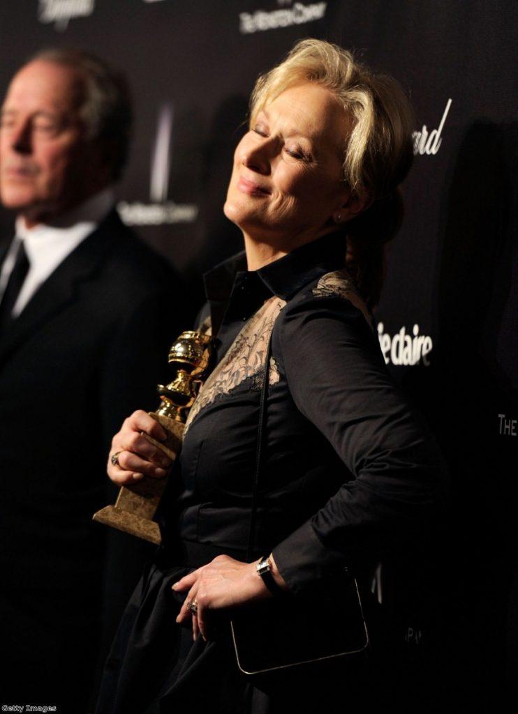 Streep looks serene after winning the best actress award last night