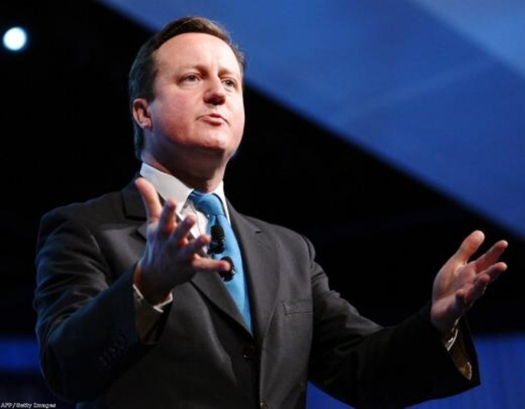 David Cameron in defiant mode