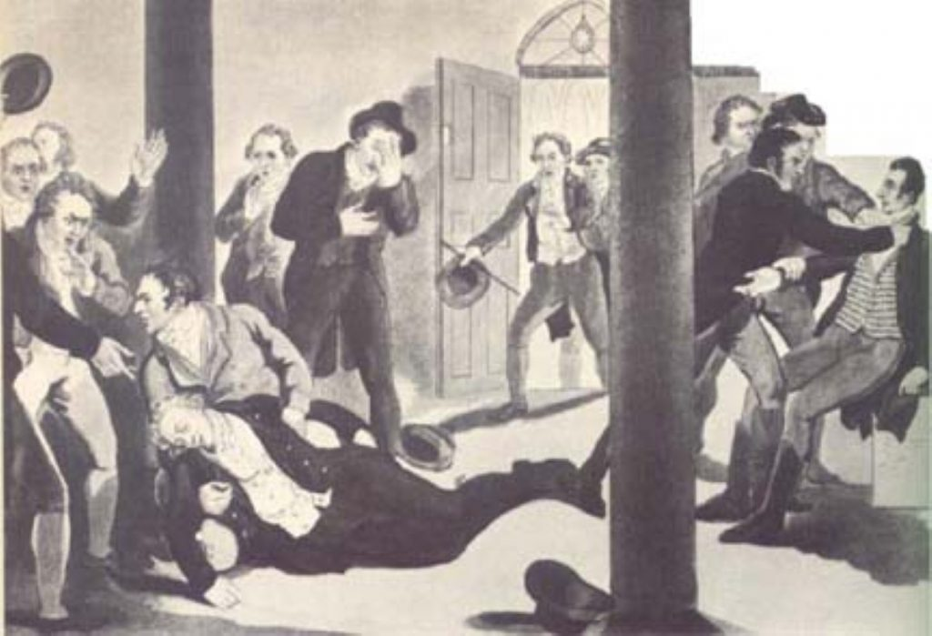 Mr Perceval was shot point blank in the chest by John Billingham - a disgruntled merchant.