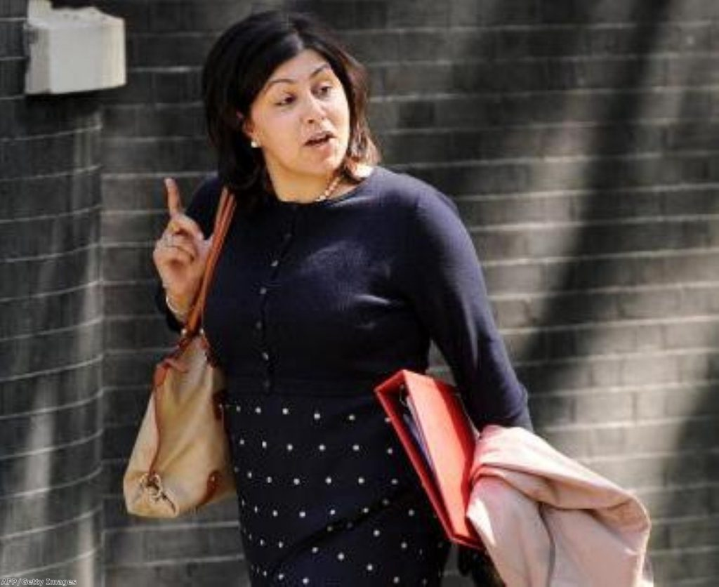 Warsi: Departure speaks volumes about the state of the Tory party
