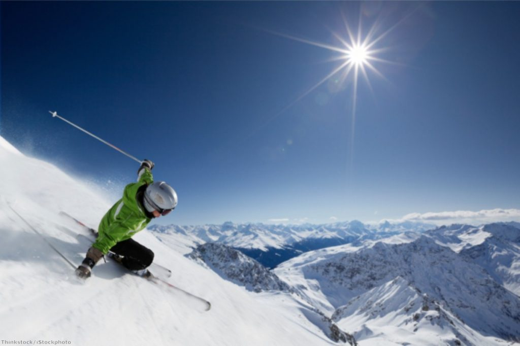 Skiing in Davos, where the World Economic Forum meets this week