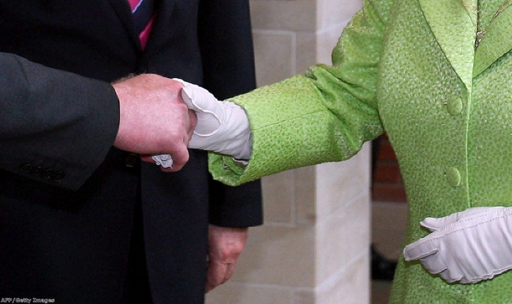 Martin McGuinness shakes the Queen's hand
