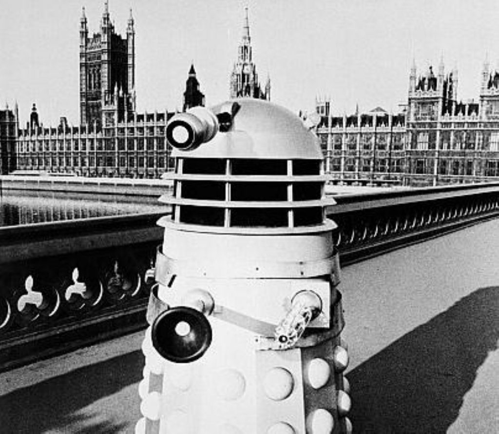 Even the Daleks can't resist getting their picture taken in front of parliament