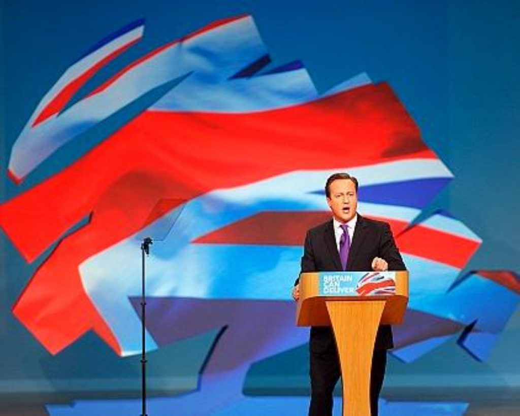 David Cameron delivering his third leader's speech as prime minister