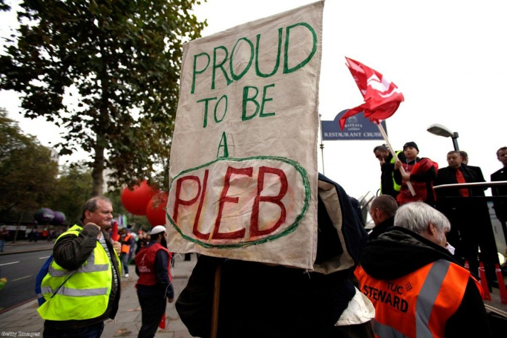 Trade unionists on a London march earlier this year.