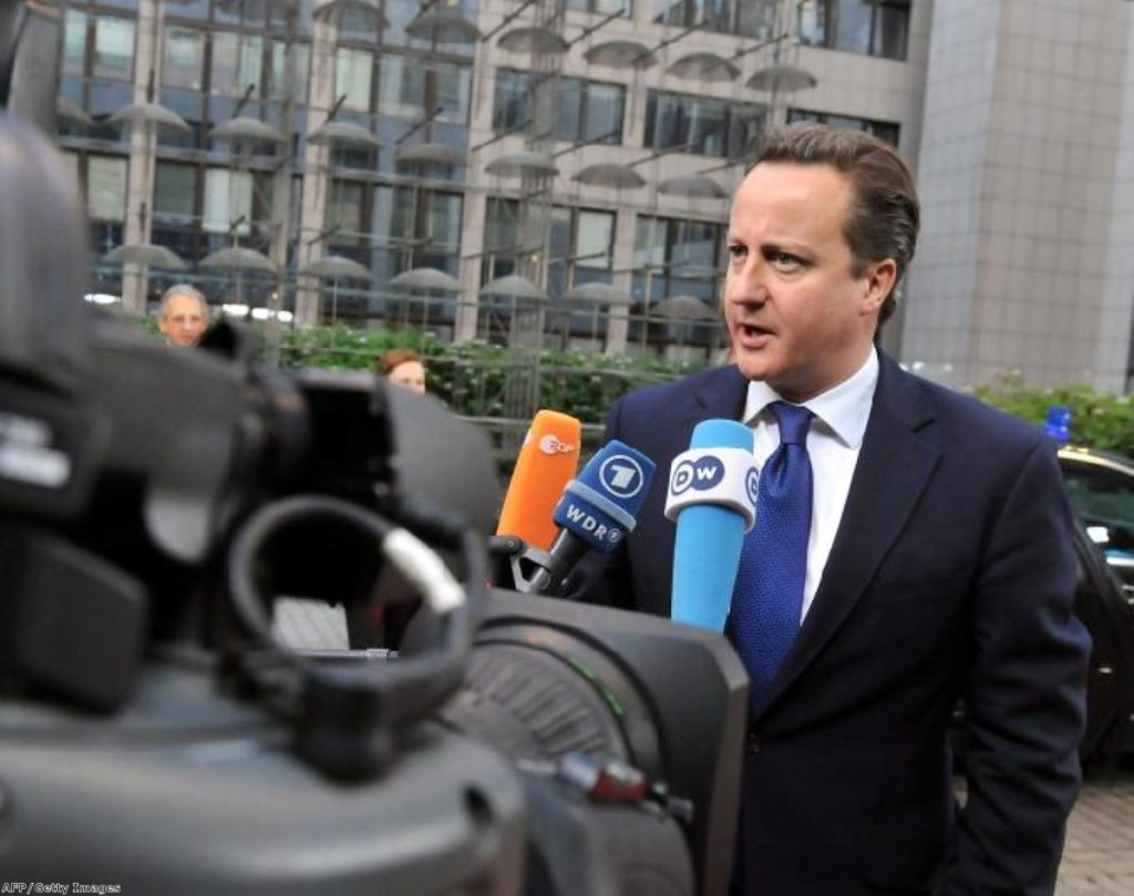 Cameron: Buffeted by leadership bids, hit by attacks from left and right.