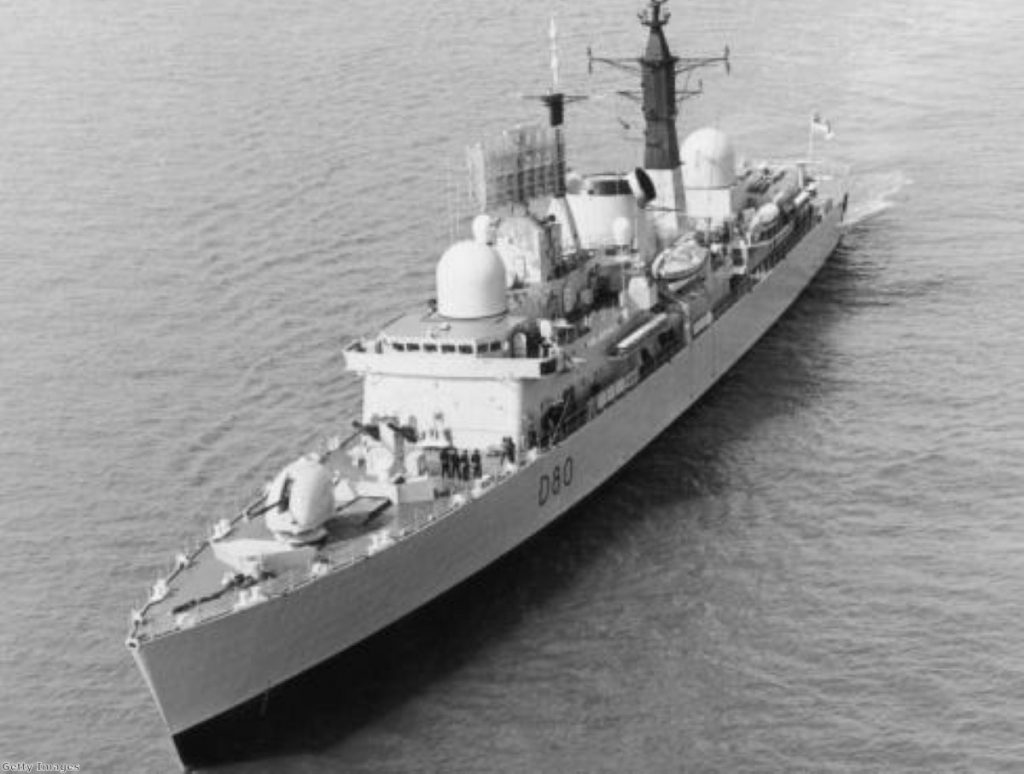 HMS Sheffield was sunk after being hit by an Exocet missile