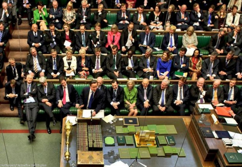 They're behind you: Cameron's backbenchers will be significantly strengthened by the election