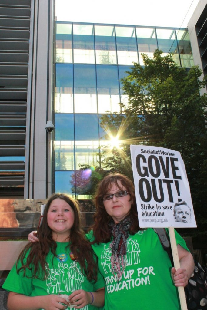 Statistical analyst and mother Helena Hamilton makes a stand for teachers' rights