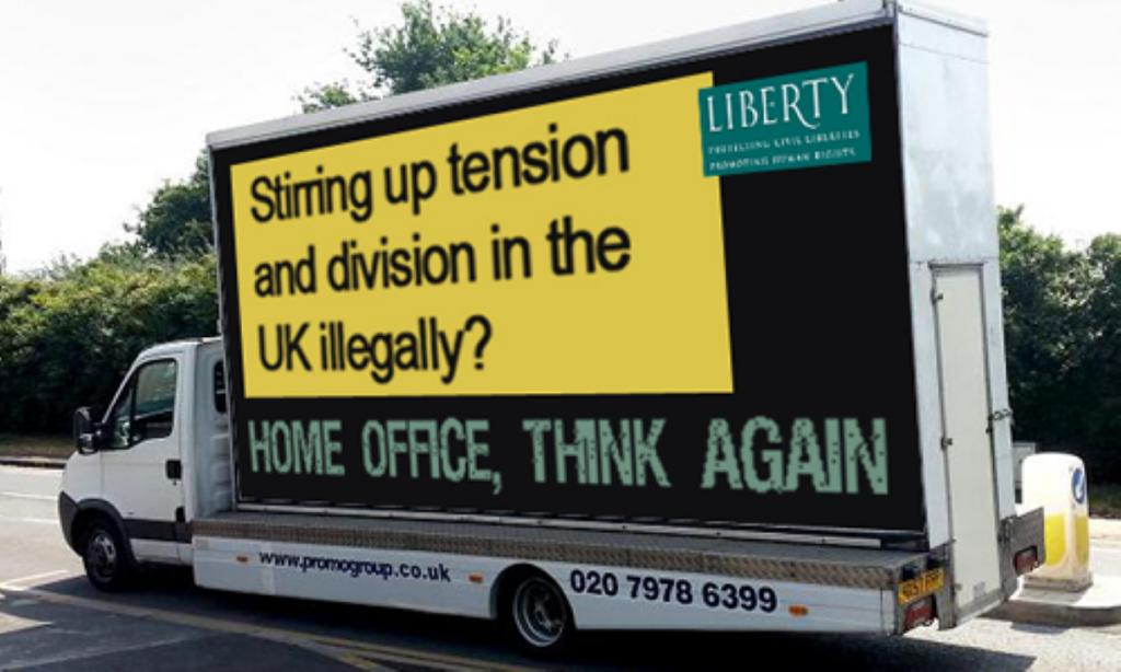 liberty's anti-racist van tours the capital