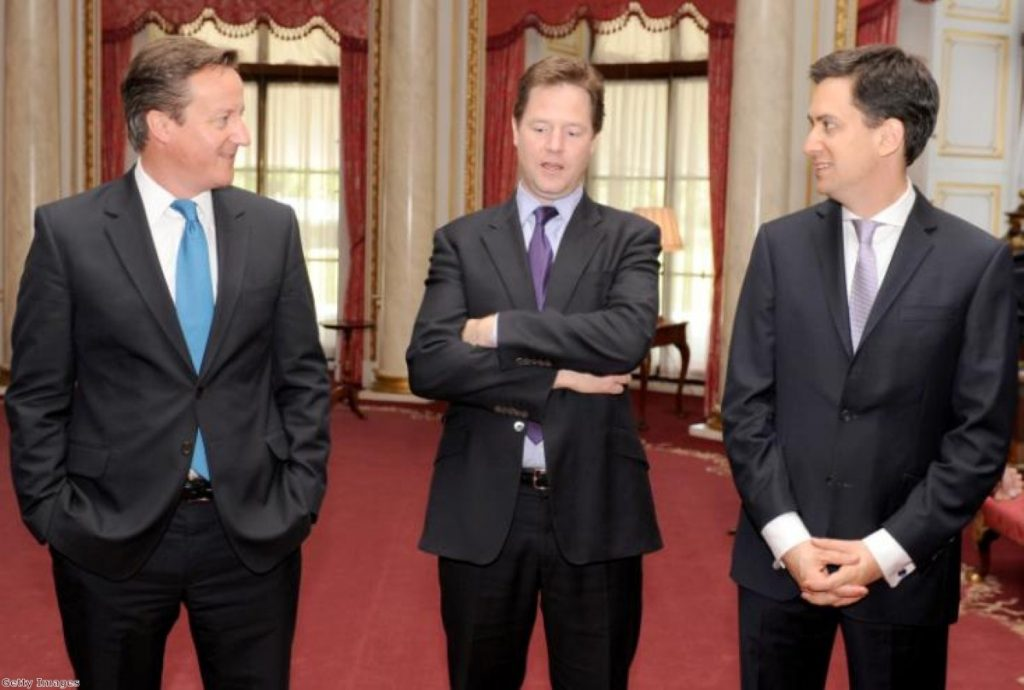 Three amigos? Cameron, Clegg and Miliband fight to save the union