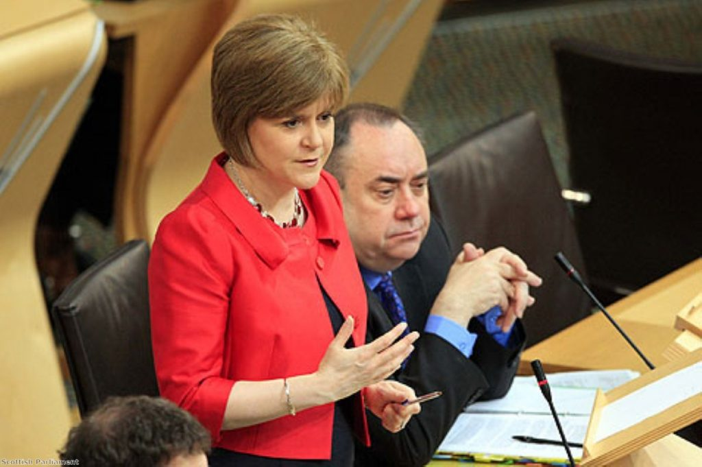 Sturgeon and Salmond: fortune in referendum rests on white paper