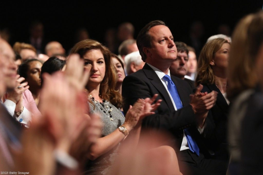 David Cameron at the Conservative conference yesterday