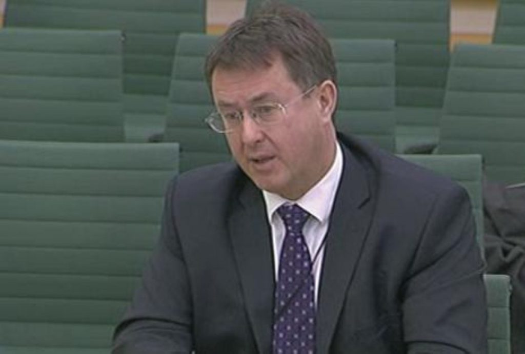 Andrew Wright, Ofgem's interim CEO, answers questions from MPs this morning