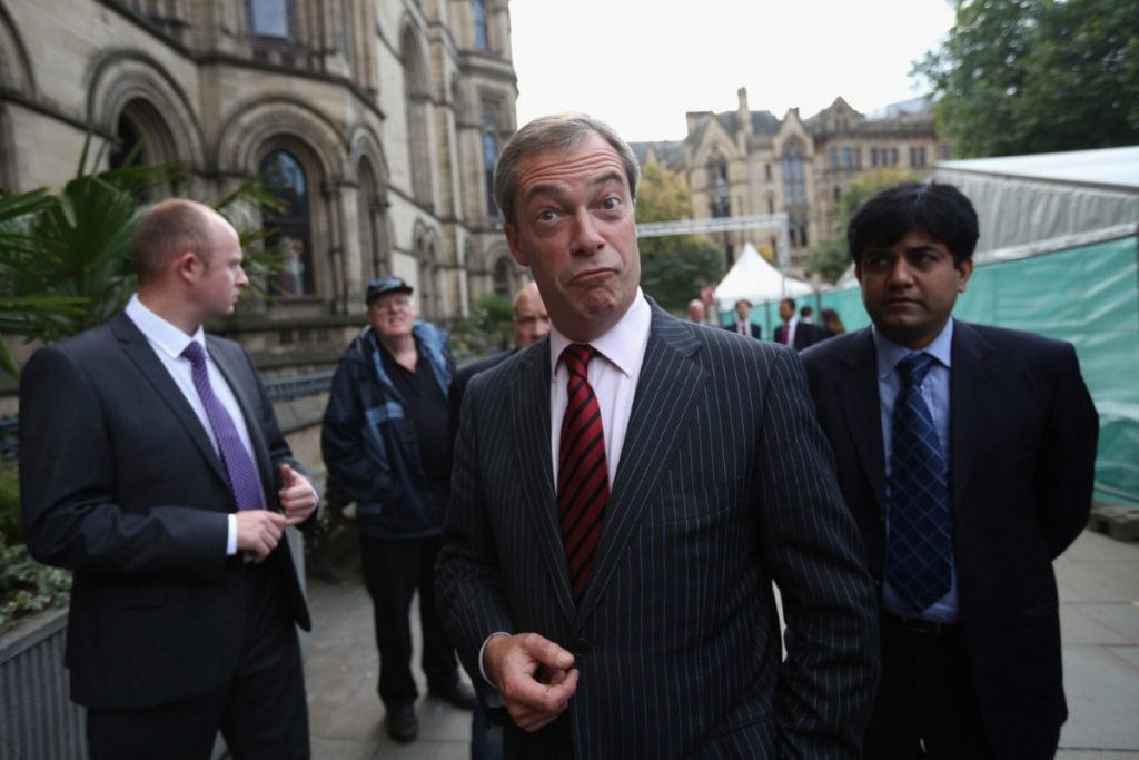 Farage... victorious? Ukip leader cleans up after Maria Miller affair
