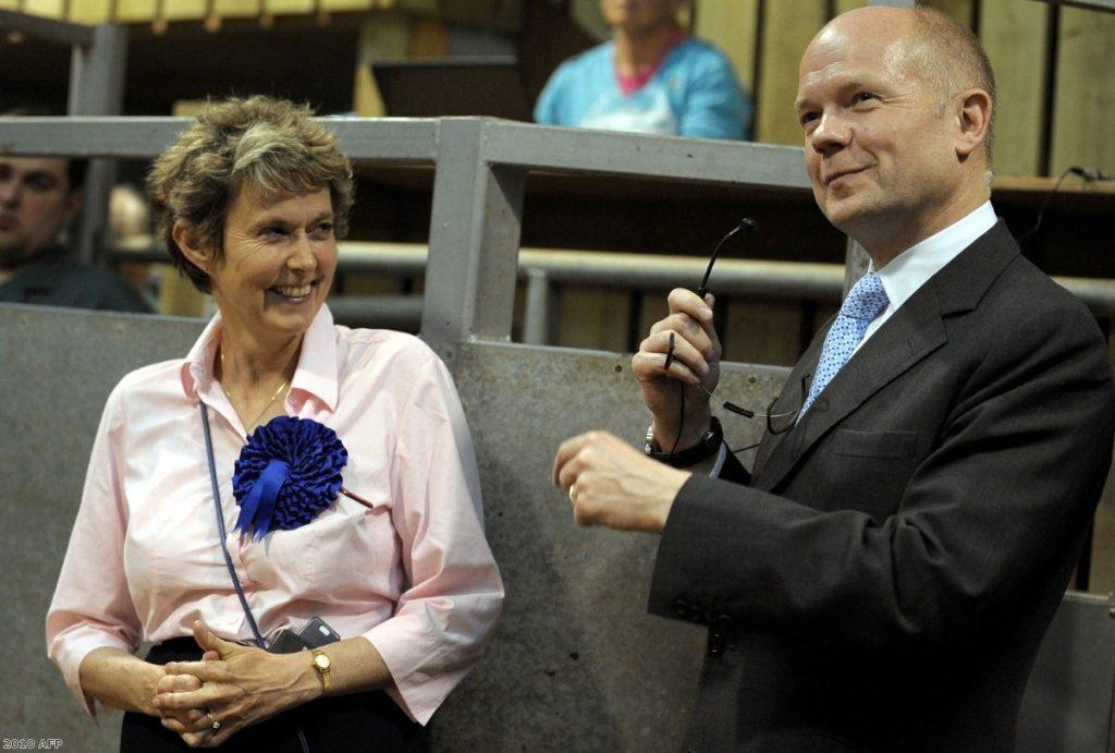 Anne McIntosh with William Hague in 2010