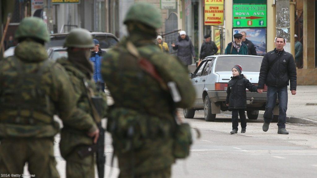 Russian troops' presence in the Crimea region is prompting international response