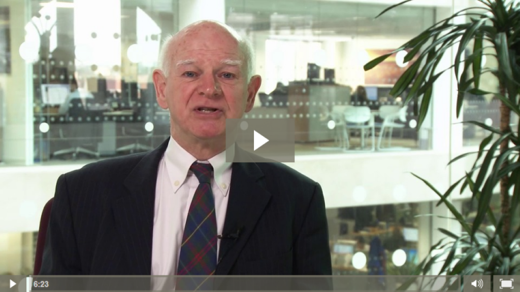 Sir Howard Davies, chair of the Airports Commission, addresses the Aircraft Noise Summit via video on March 11th 2014.