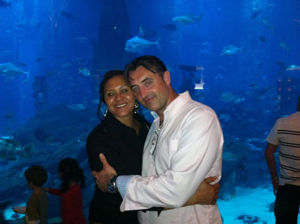 Jean and Frank at the London Aquarium. They have now been apart 15 months.