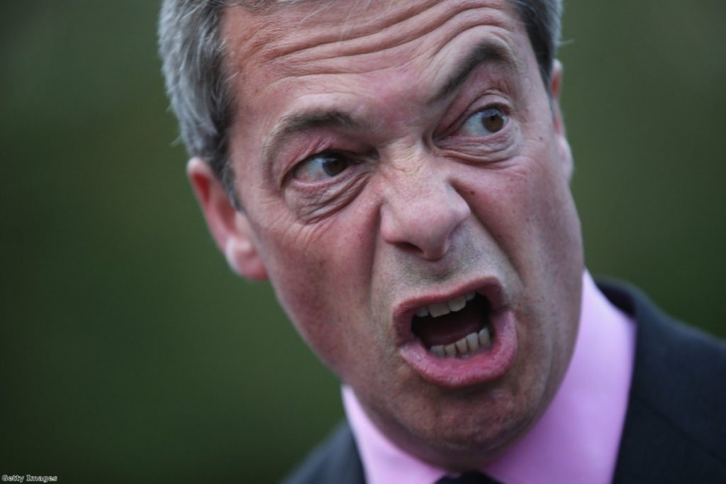 Nigel Farage asked: 'How important do you see the issue of white genocide?'