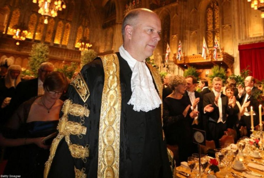 Chris Grayling, the first non-lawyer to take the lord chancellor position for 400 years