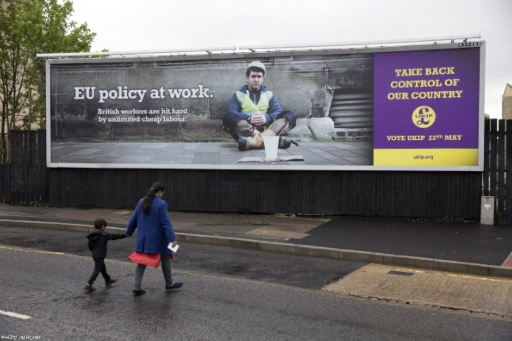 Ukip accused of 'Euracism' for poster campaign