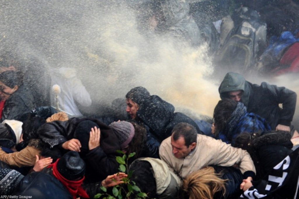 Water cannon: A horrific history